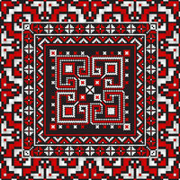Romanian traditional pattern 214