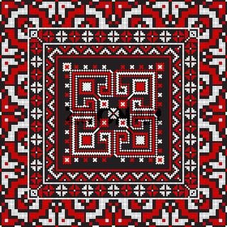 Romanian traditional pattern 214