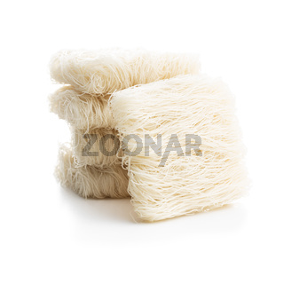 Uncooked white rice noodles