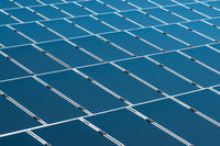 solar panels closeup photovoltaic  power plant -
