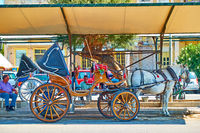 Horse carriage in Aegina town