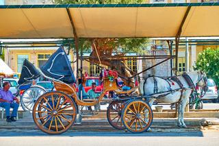 Horse carriage in Aegina town