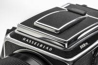 detail of Hasselblad 503CW, vintage medium film camera