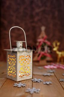 Christmas yellow lamp light background