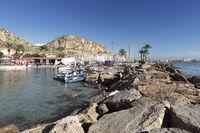 Views of the Real Club de Regatas of Alicante, Spain.