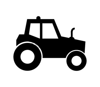 tractor icon illustrated in vector on white background