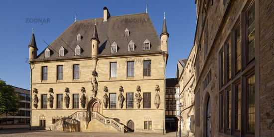 Town hall, signing place of the Westphalian Peace, Osnabrueck, Lower Saxony, Germany, Europe