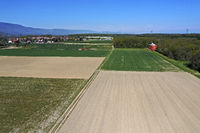 Pattern of greened and fallow fields, Canton Geneva, Switzerland