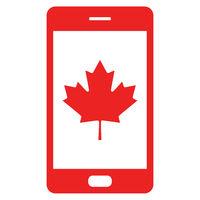 Ahornblatt und Smartphone - Maple leaf and smartphone