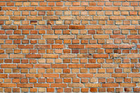 Orangey red brick wall background texture