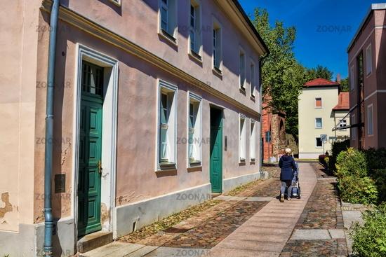 Bernau near Berlin, Germany - 04/30/2019 - old town with hangman's house