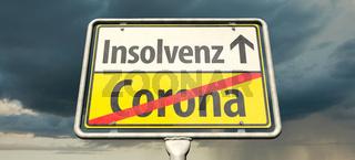 Insolvenz wegen Corona