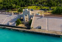 Ruins of the Waikiki Natatorium War Memorial on Oahu, Hawaii