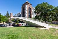 Argentina Cordoba pedestrian bridge  in Las Tejas park