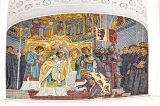 Darstellung der Gründungslegende Dom St.Blasien Schwarzwald