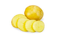 Potatoes yellow sliced