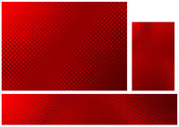 Abstract Halftone Background in Red Colors Set