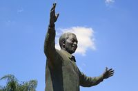 Statue of Nelson Mandela at the Union Buildings in the capital city Pretoria, Southafrica