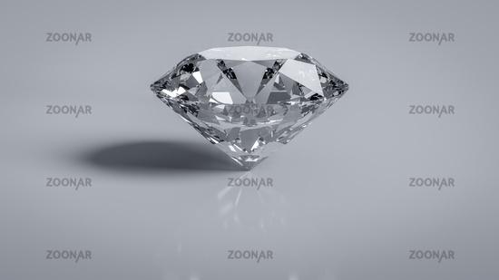 Brilliant cut diamond wealth symbol object