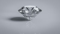 Brilliant cut diamond wealth symbol object