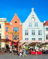 Touristic oldtown architecture, restaurants, Tallinn