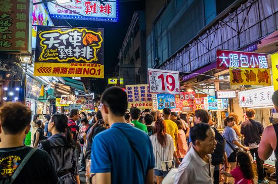 Fengchia night market was popular with tourits and locals