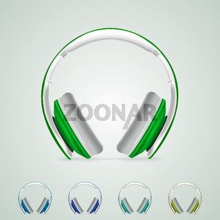 Illustration of headphones