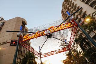 Surfers Paradise Welcome Sign in Australia