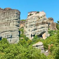 Meteora rocks and Monastery of Varlaam