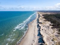 Aerial view of Liseleje Beach, Denmark