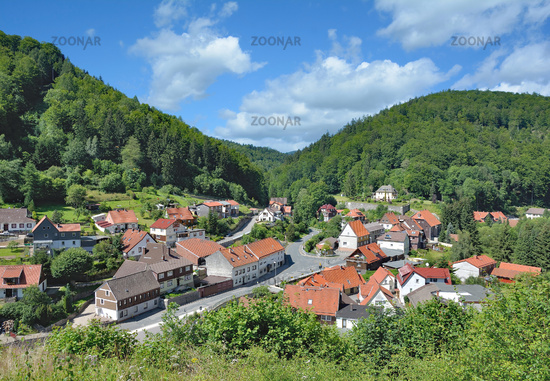 Village of Zorge in Harz Mountain,lower Saxony,Germany