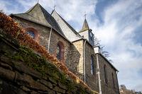 The Parish Church of St. Mary's Birth in Monschau in North Rhine-Westphalia