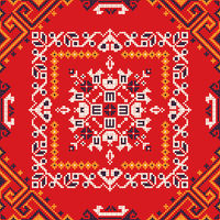 Romanian traditional pattern 182