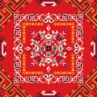 Romanian traditional pattern 182