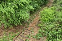 Decommissioned rail line, Germany