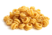 Close-up of italian pasta - spiral shaped