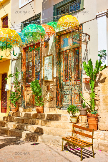 Old street in Aegina town