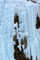 Ice wall at mountains