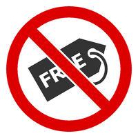 Flat Raster No Free Tag Icon