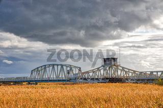 historische Eisenbahnbrücke Meiningen Brücke Darß Zingst