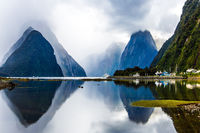 The fjord Milford Sound