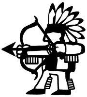 Tribal Archer Silhouette Cartoon
