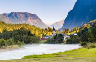 Fortun village in Norway