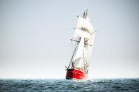 Red schooner