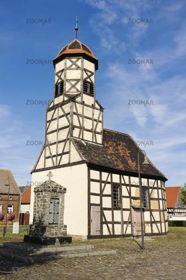Timber-framed church in Steinsdorf, Saxony-Anhalt