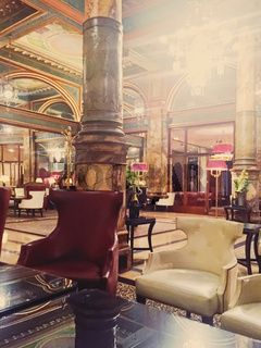 Luxury interior design of five star Hotel Metropole in Brussels, Belgium