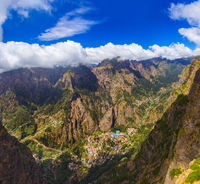 Mountain village in Madeira Portugal