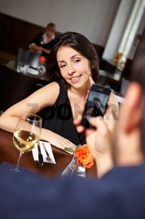 Handyfotos im Restaurant