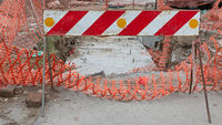 Construction Barrier Sign