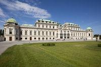 Park and Belvedere castle, Vienna, Austria, Europe
